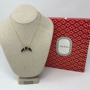 Stella & Dot Black Horn Necklace
